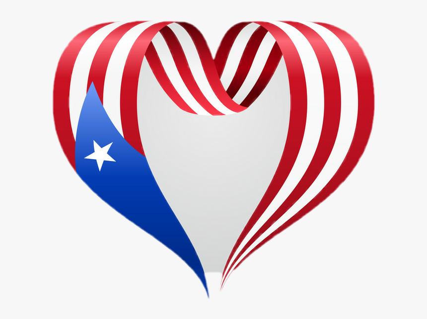 Bandera De Puerto Rico Corazon , Png Download - Bandera De Puerto Rico Png, Transparent Png, Free Download