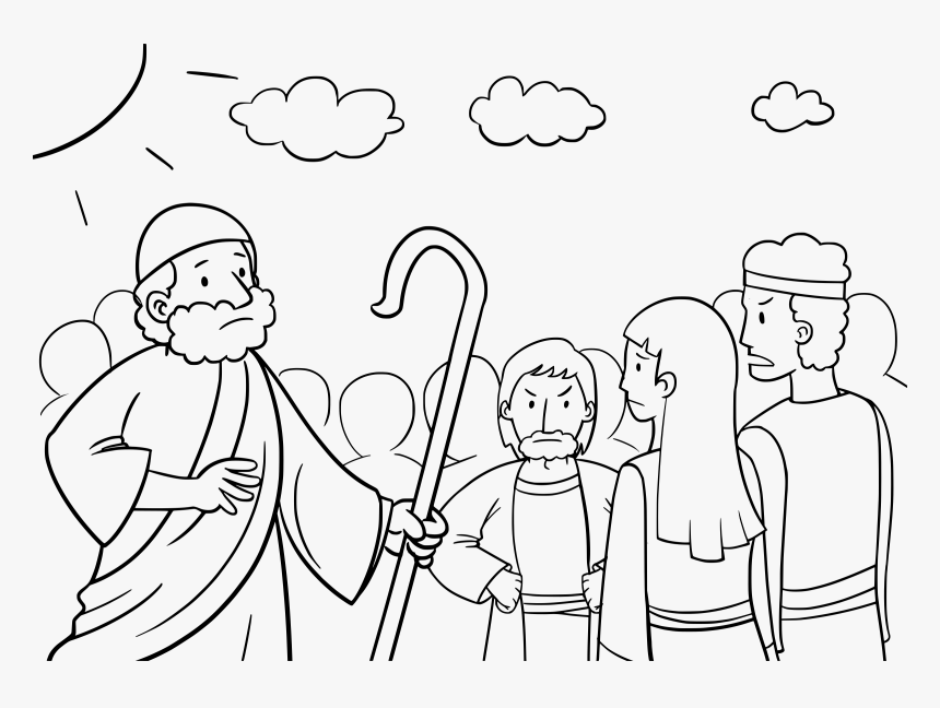 Moses and the Burning Bush - Bible Coloring Pages | Whats in the Bible | 648x860