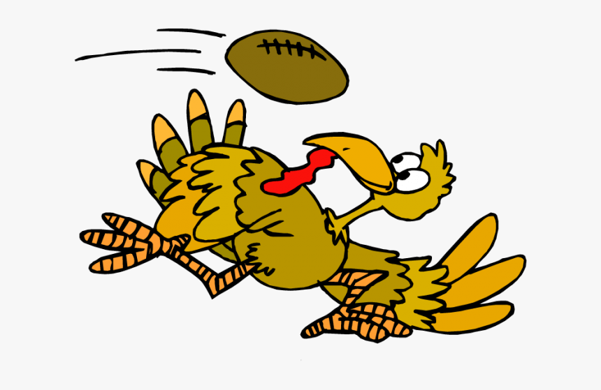 Thanksgiving Turkey Playing Football Png, Transparent Png, Free Download