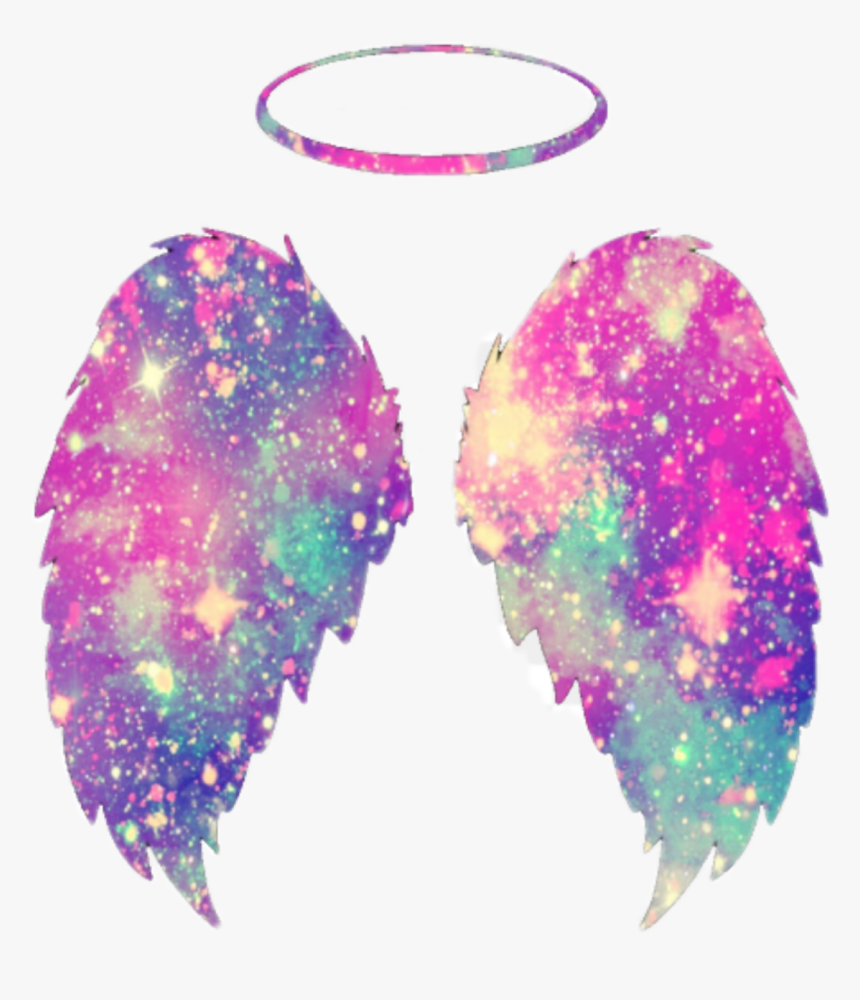 #freetoedit #galaxy #angel #wings #halo - Cute Angel Wings Clipart, HD Png Download, Free Download