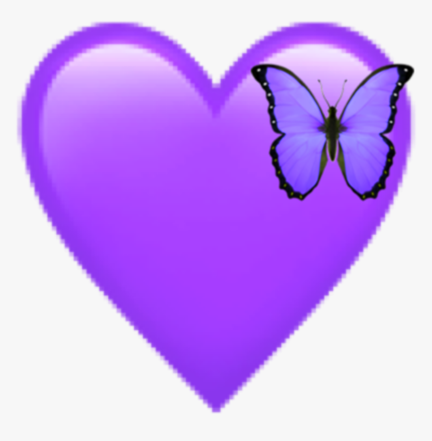Purple Heart Emoji - Heart, HD Png Download, Free Download