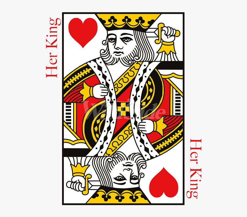 Her King Playing Card - King Of Hearts Card, HD Png Download, Free Download