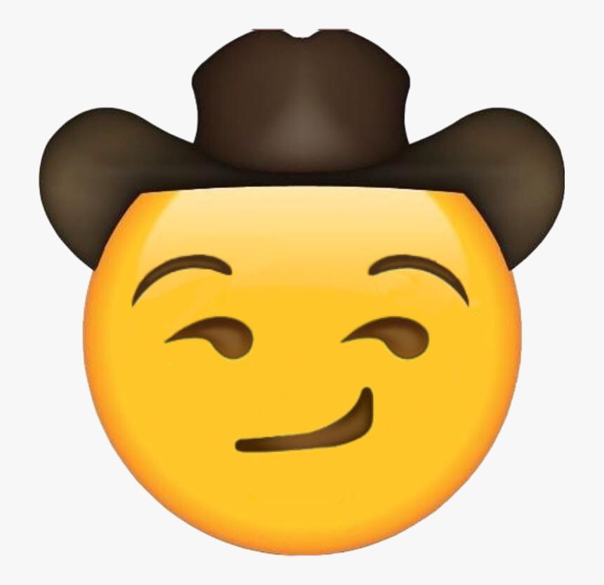 #improved Winky#freetoedit - Sad Cowboy Hat Emoji, HD Png Download, Free Download