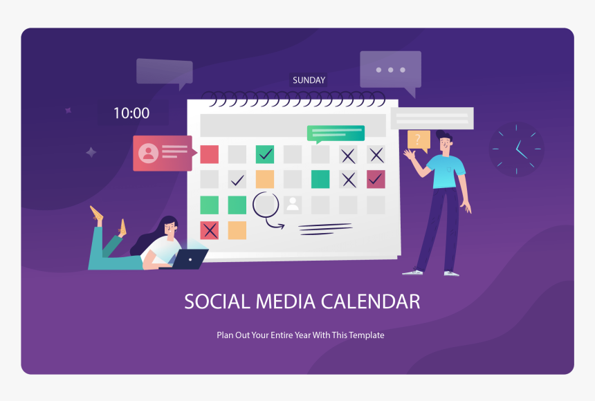 Social Media Calendar - Freepik Time Management, HD Png Download, Free Download
