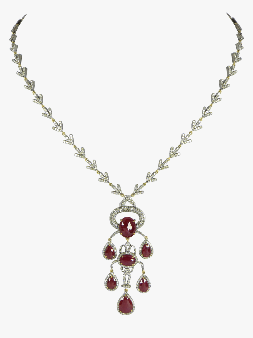 White Gold Bead Necklace, HD Png Download, Free Download