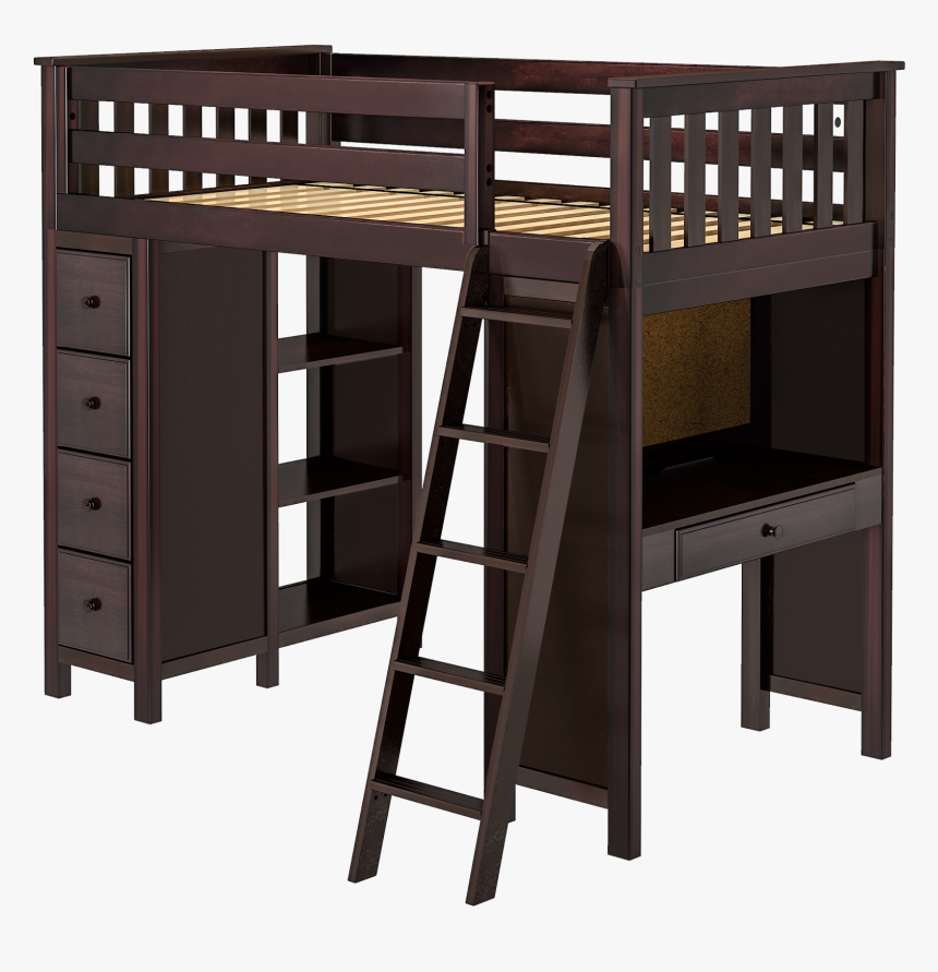 Jackpot 5-e - Kids Low Loft Bed With Dresser, HD Png Download, Free Download