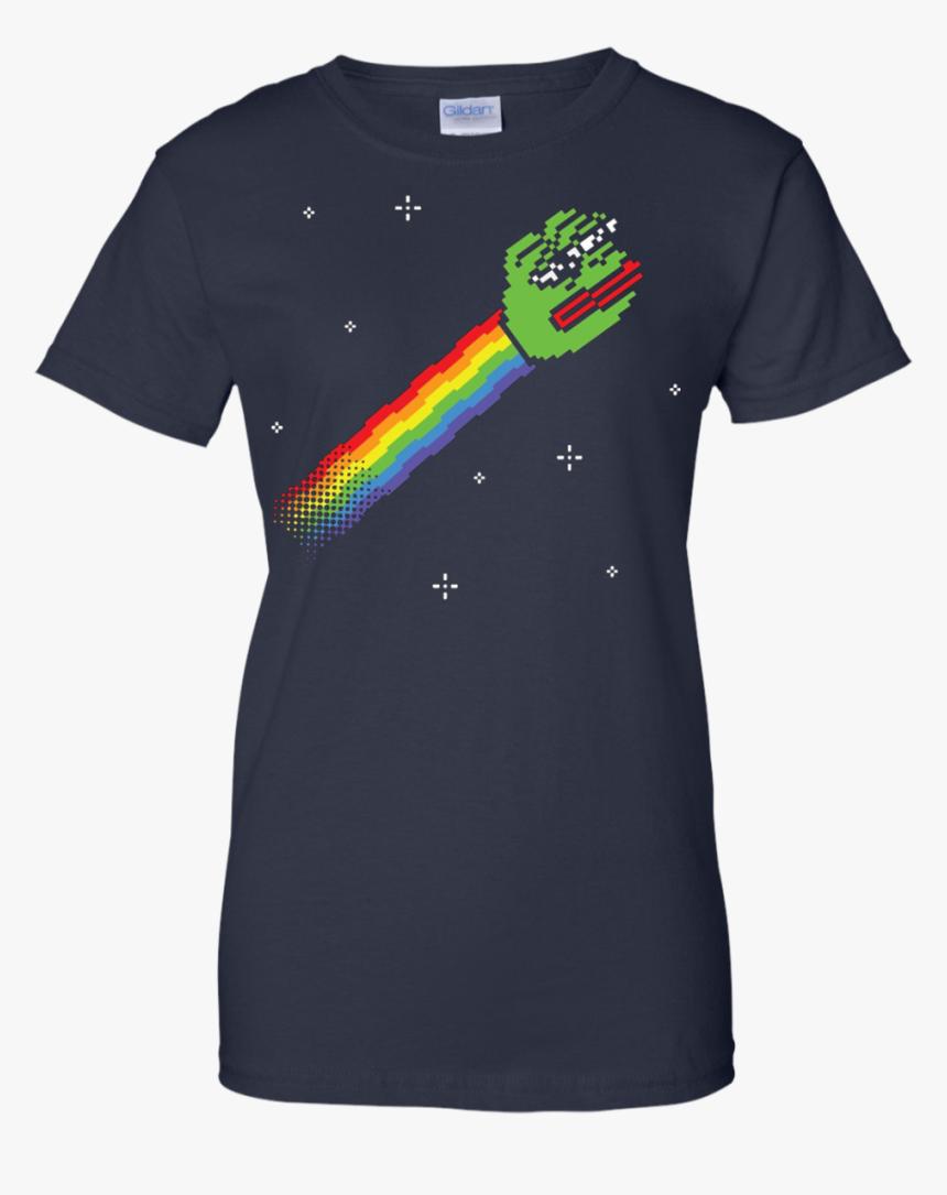 Nyan Pepe The Frog T-shirt Dank Memes Meme Sad Shirt - Rick And Morty Dr Who T Shirt, HD Png Download, Free Download