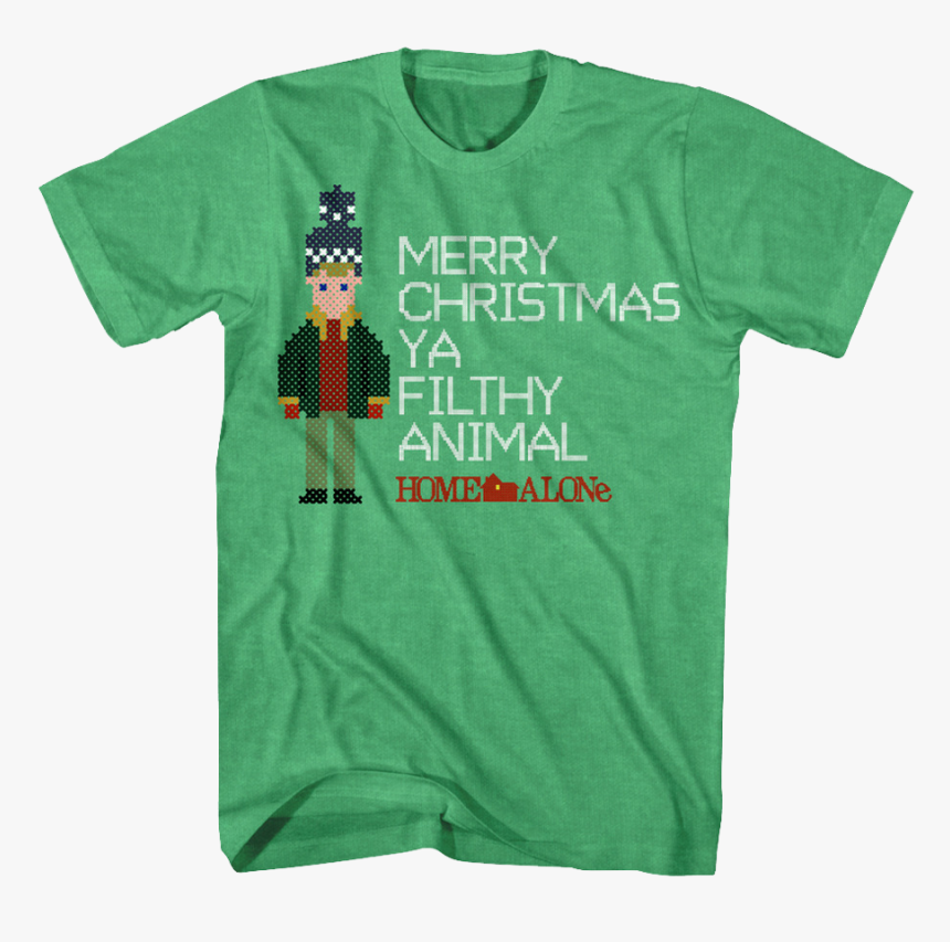 Merry Christmas Filthy Animal Home Alone T-shirt - Home Alone Shirt Merry Christmas Ya Filthy Animal Shirt, HD Png Download, Free Download