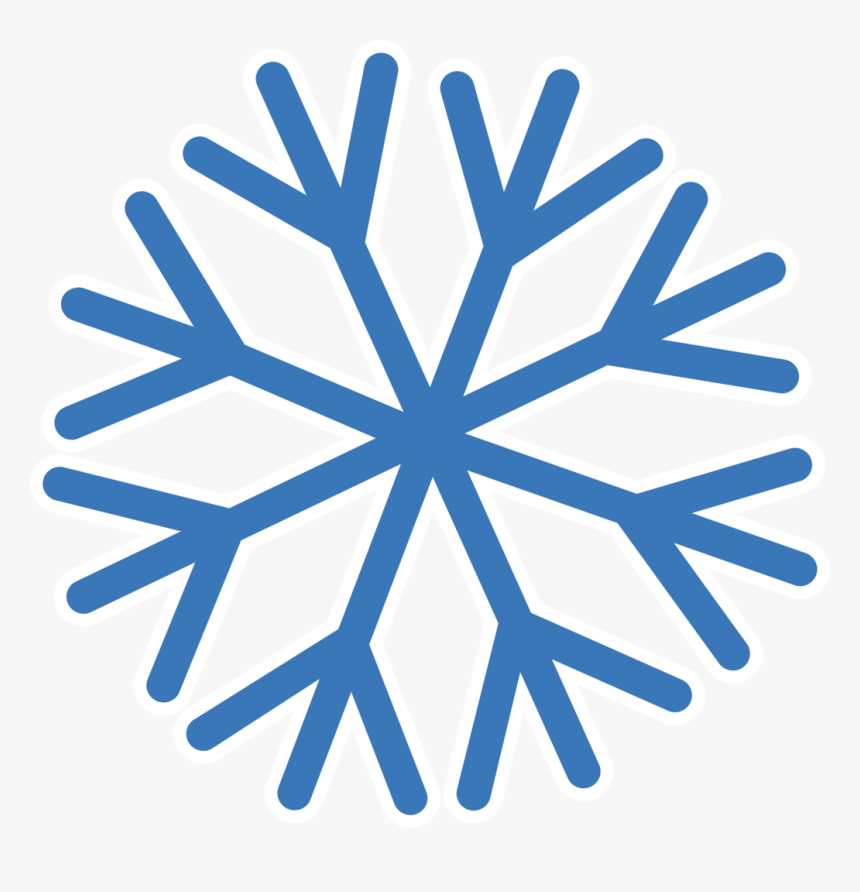 Snowflake With Transparent Background - Transparent Background Snowflake Png, Png Download, Free Download