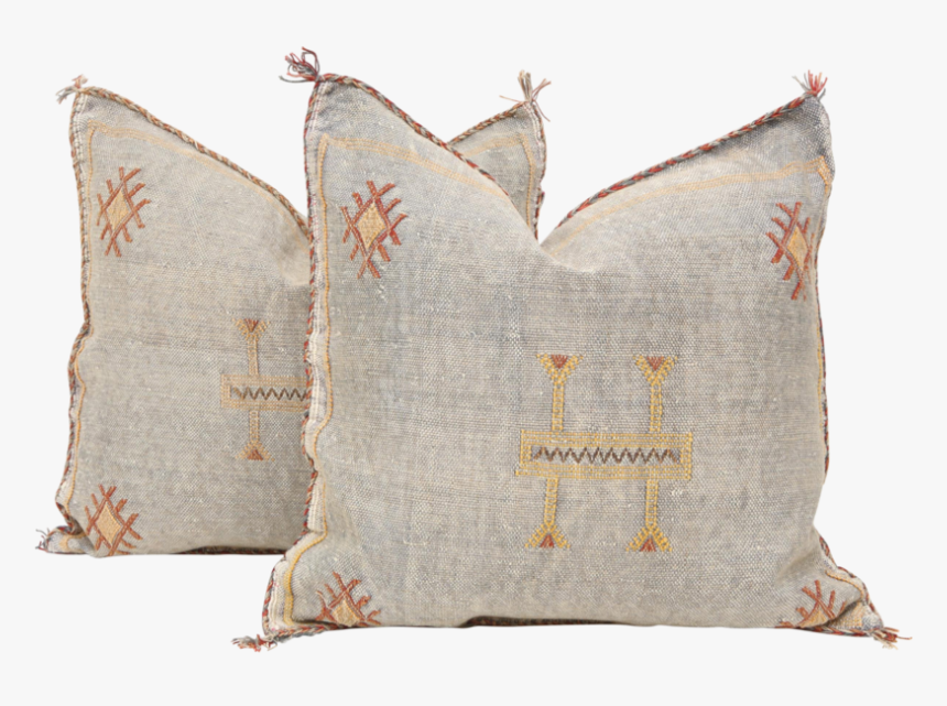 Moroccan Sabra Cactus Silk Pillow Cover - Throw Pillow, HD Png Download, Free Download