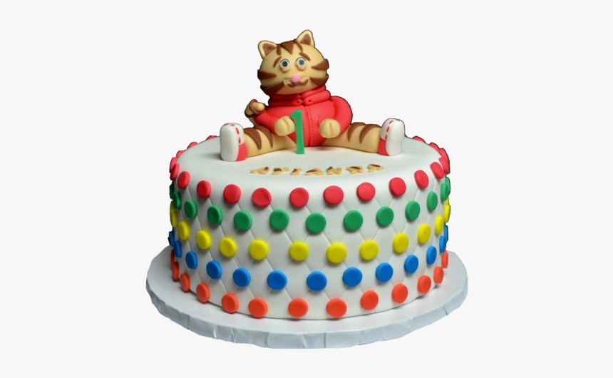 Magnificent Daniel The Tiger Cake For A 1St Birthday Party Vanilla Birthday Personalised Birthday Cards Paralily Jamesorg