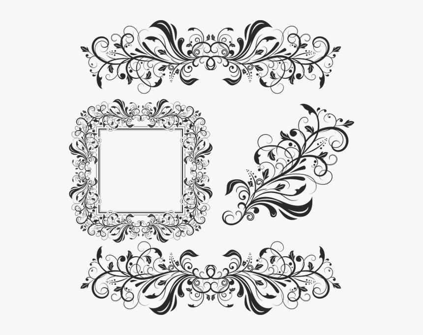 Цветочный Узор, Винтажный Узор, Винтажный Орнамент, - Floral Decorative Elements Vector, HD Png Download, Free Download