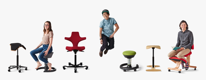 A Collectiion Of Active Sitting Chairs From Fully, - Office Chair, HD Png Download, Free Download