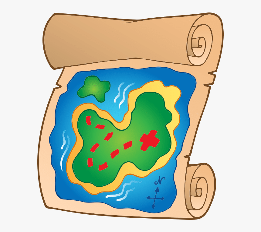 treasure map pirate pirates cartoon illustration hd png download kindpng treasure map pirate pirates cartoon