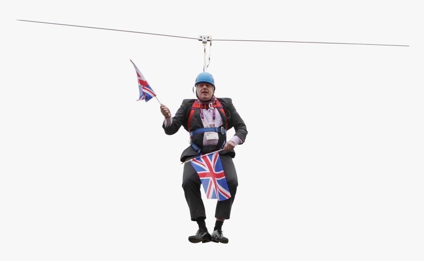 Boris Johnson Stuck On A Zip Line - Boris Johnson Zip Wire Youtube, HD Png Download, Free Download