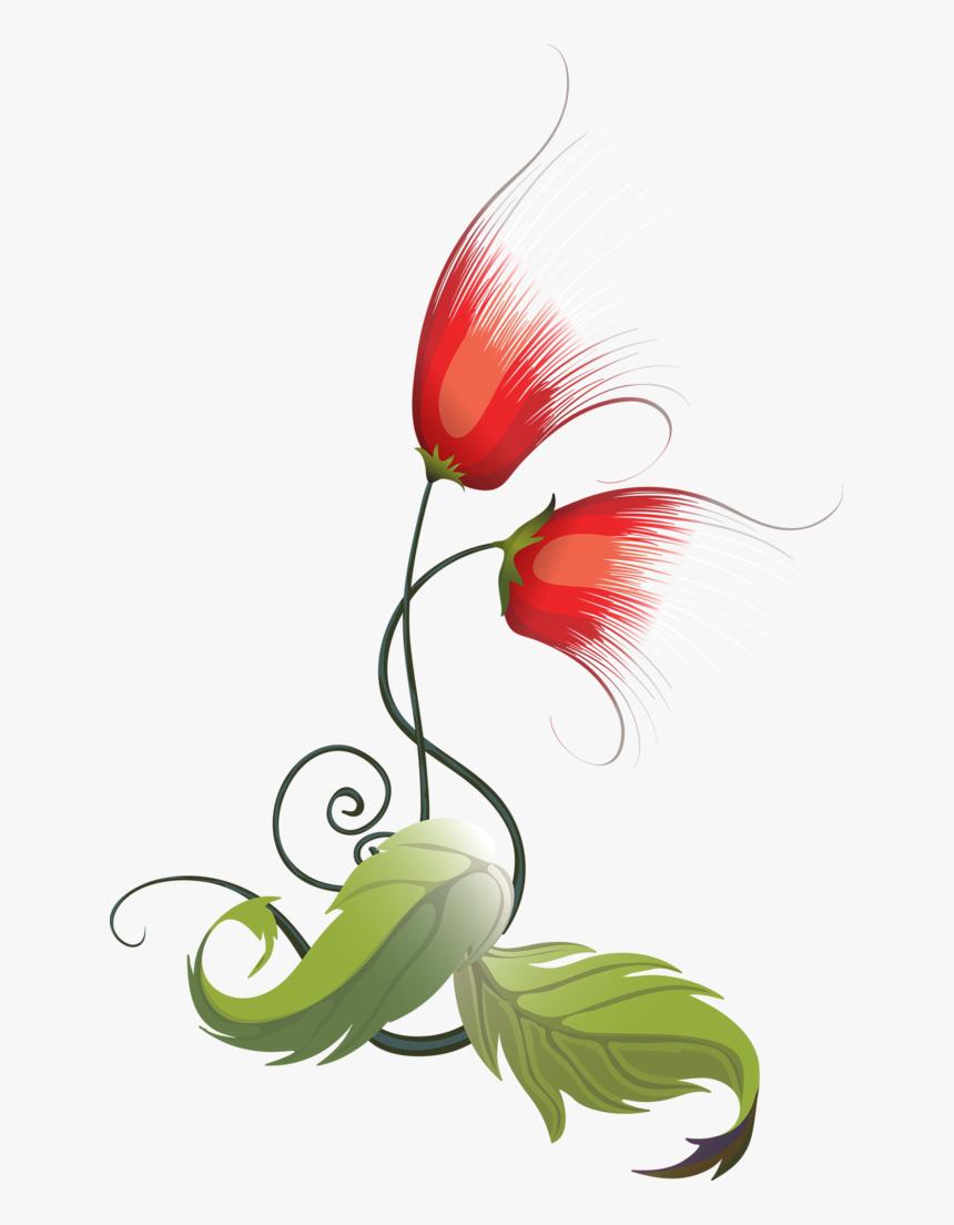 Tubes Fleurs Vector Design, Creative Art, Tube, Photoshop, - 花朵 插圖, HD Png Download, Free Download