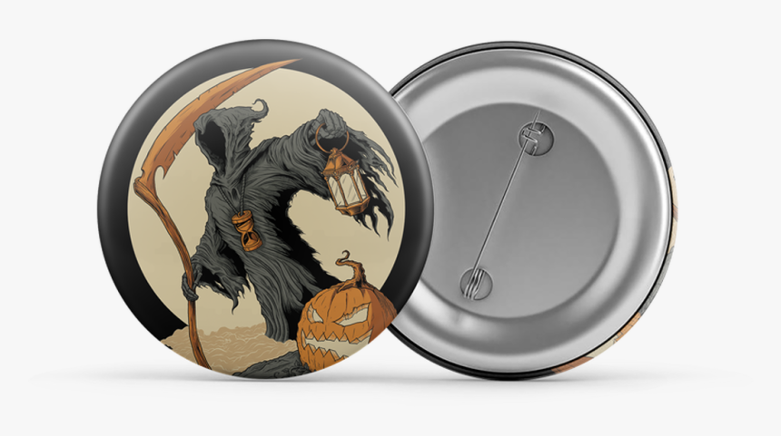 The Reaper Orange/cream - Pin-back Button, HD Png Download, Free Download