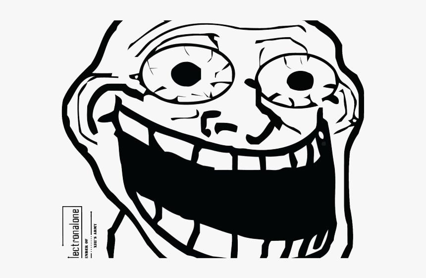 Trollface Man Png Hd - Troll Face Big Eyes, Transparent Png, Free Download