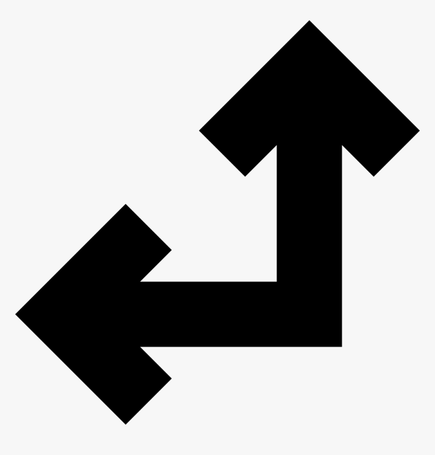 Two United Arrows In Straight Angle Pointing Left And - Arrow Pointing Up And Left, HD Png Download, Free Download