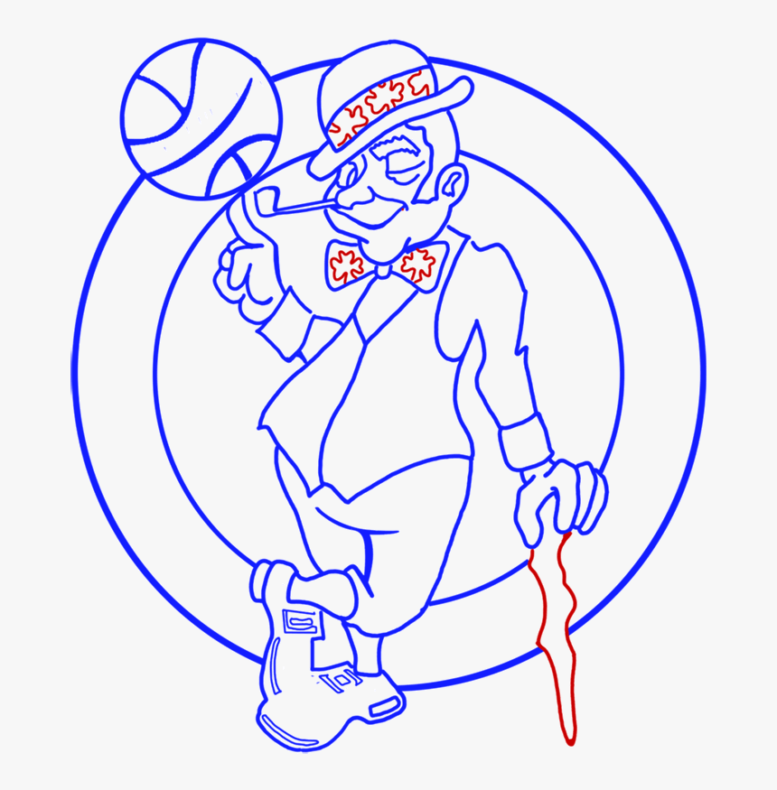 Celtics Nba Coloring Pages Hd Png Download Kindpng