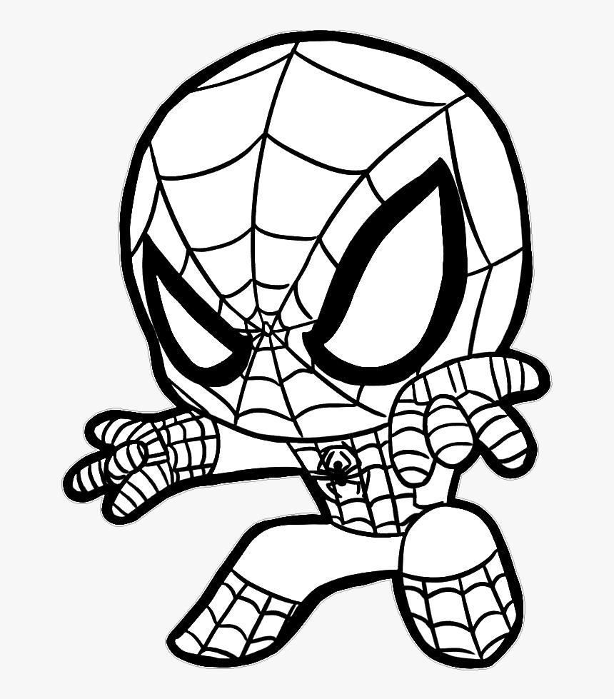 Homem Aranha Baby Spiderman Coloring Pages Hd Png Download Kindpng
