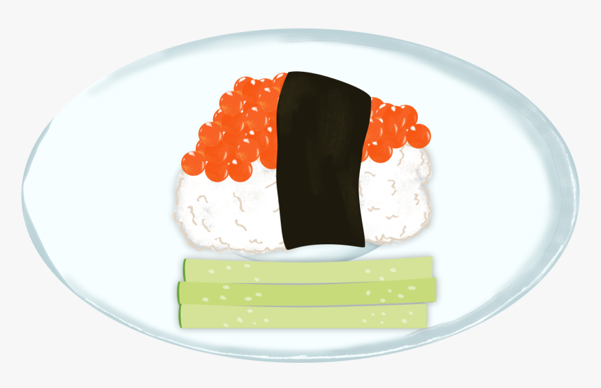 Sushi Caviar Decorative Elements Fresh Png And Psd - Steamed Rice, Transparent Png, Free Download