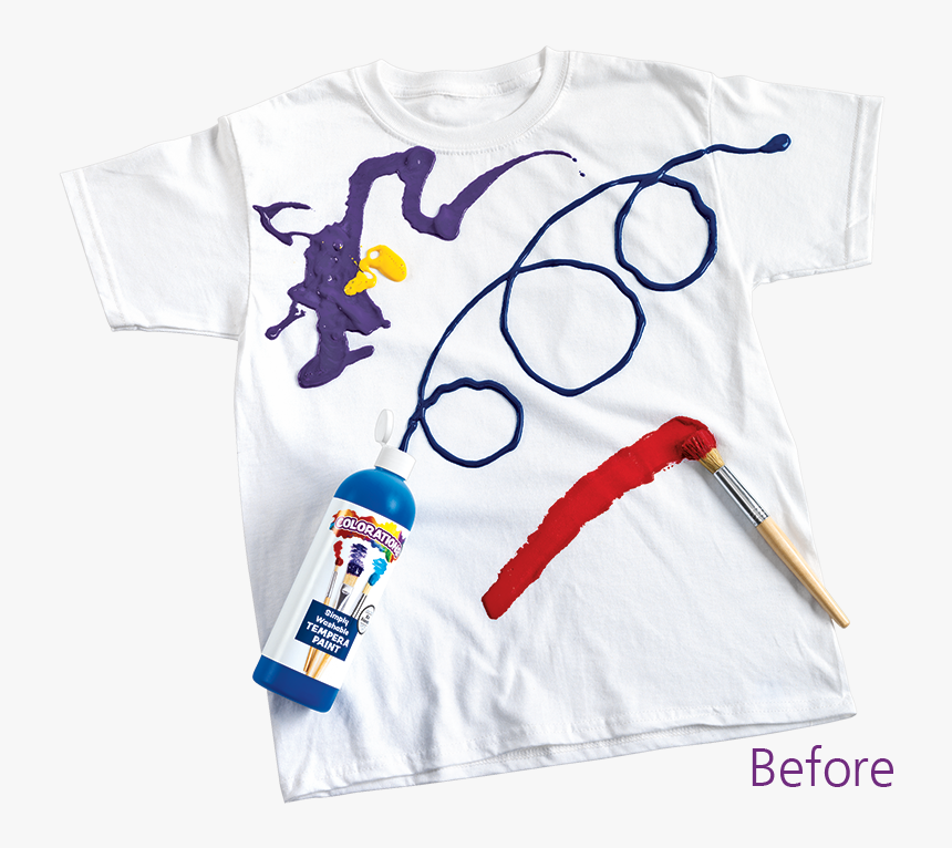 Simply Washable Tempera Before - Tempera Paint On Clothes, HD Png Download, Free Download
