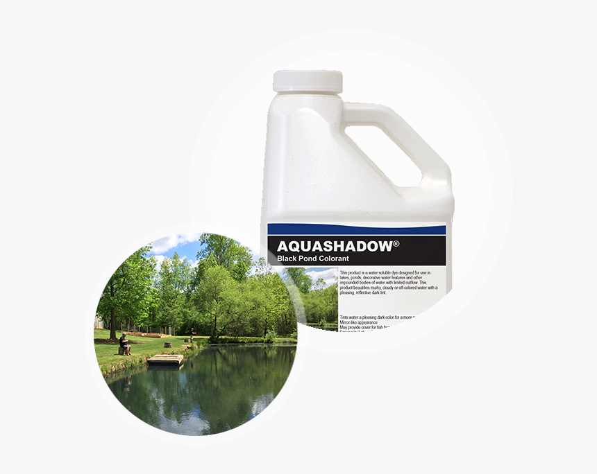 Aquashadow Black Pond Colorant Container With Pond - Reflection, HD Png Download, Free Download