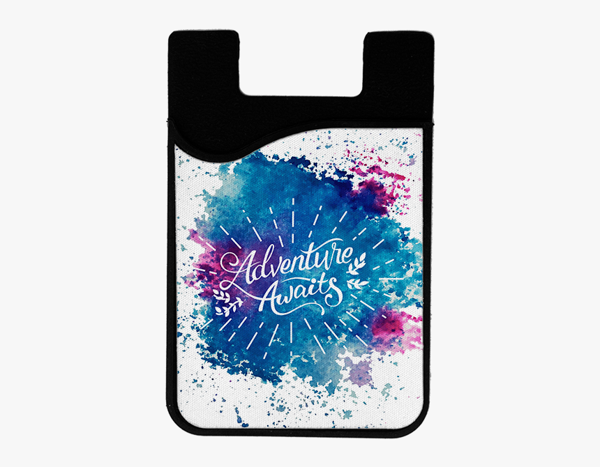 """Adventure Awaits 2 In 1 Card Caddy Phone Wallet"""" title=""""adventure - Nebula, HD Png Download, Free Download"""