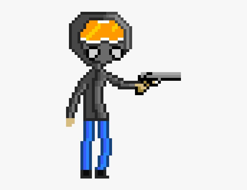 Pixel Man With Gun Png, Transparent Png, Free Download