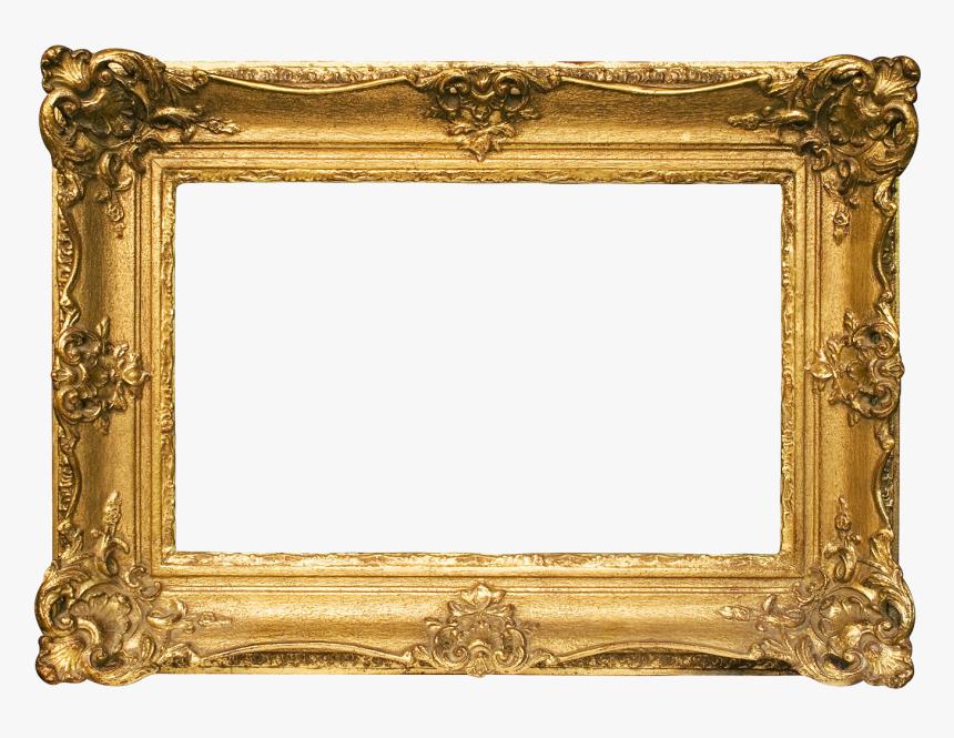 Gold Frame Png File - Painting Frame Png, Transparent Png, Free Download