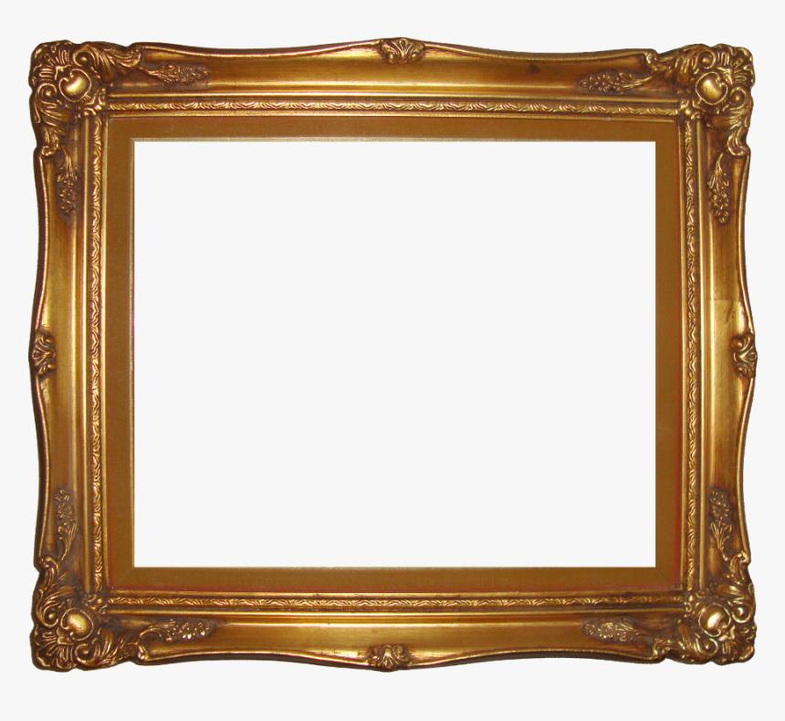Gold Frame Png Pic - Transparent Background Picture Frame Transparent, Png Download, Free Download