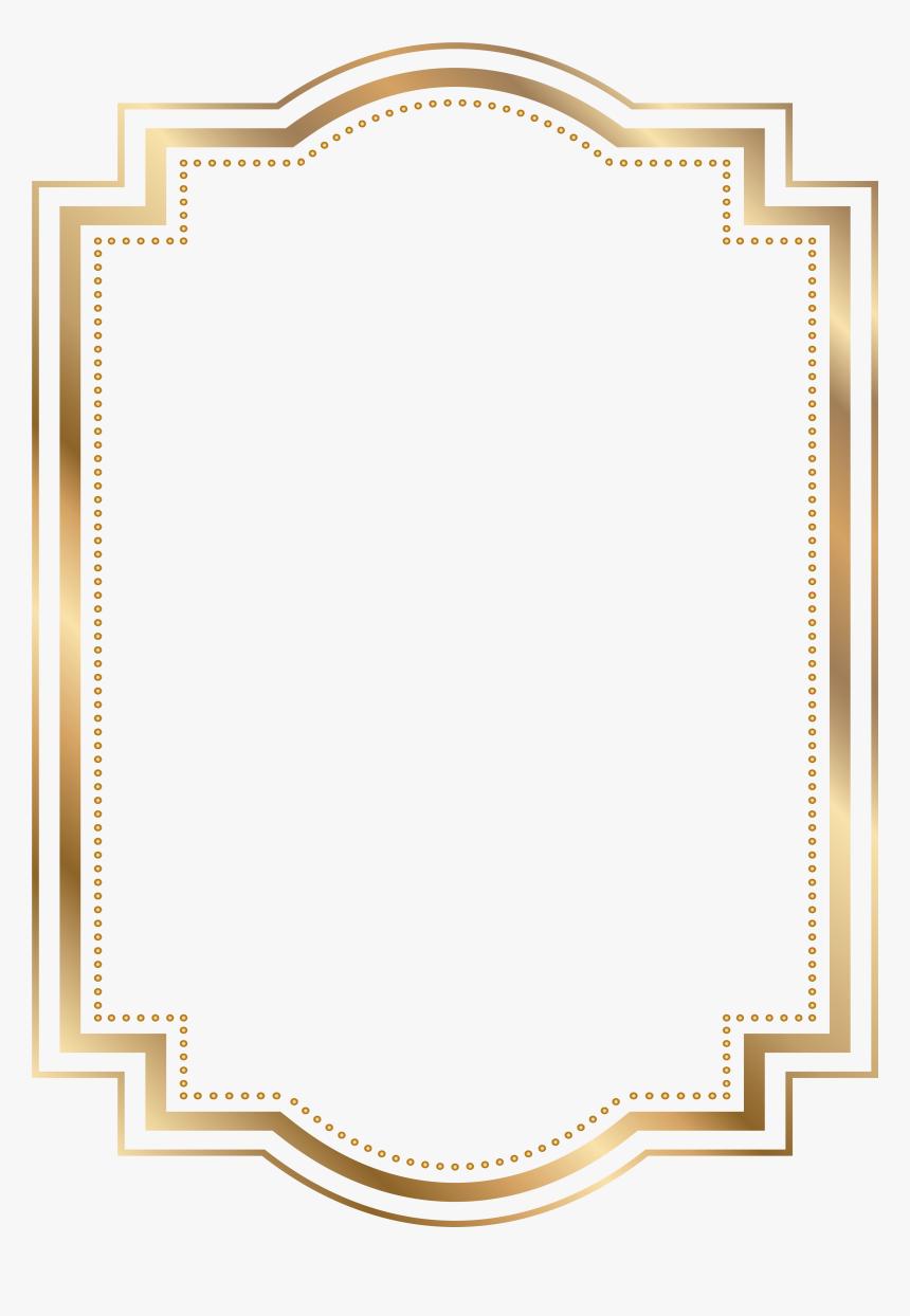 Gold Frame Clipart Labels Png Border - Border Gold Frame Png, Transparent Png, Free Download