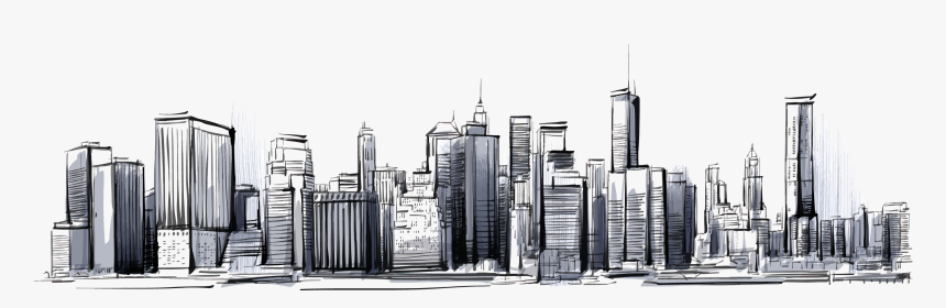 Skylines Drawing - City Skyline Drawing Png, Transparent Png, Free Download