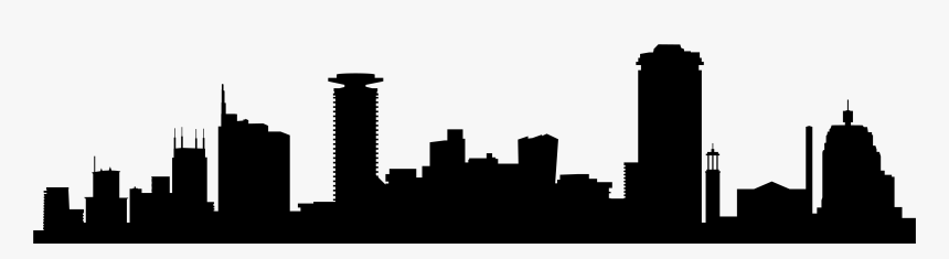 Transparent New York Skyline Silhouette Png - Transparent Background City Silhouette Png, Png Download, Free Download