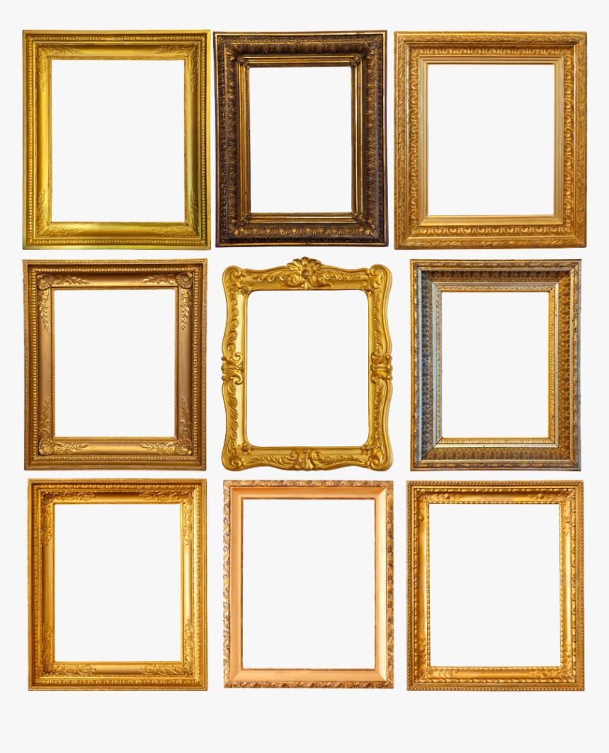 Golden Vintage Frames - Transparent Background Picture Frame Vintage, HD Png Download, Free Download