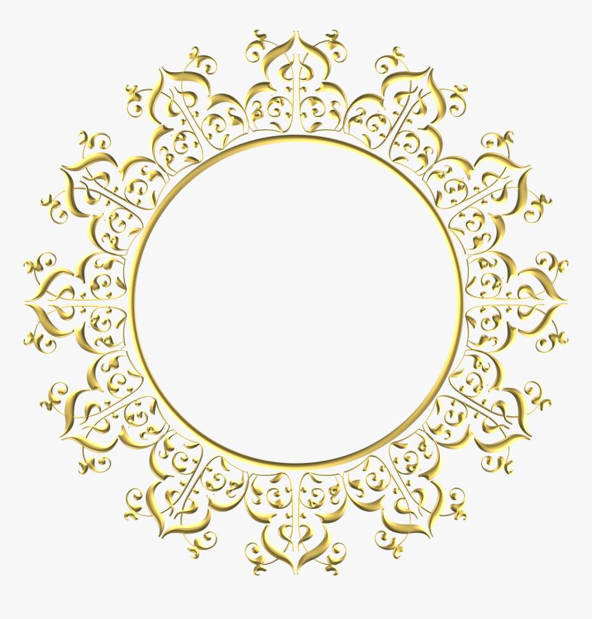 Wedding, Gold, Frame, Round, Border, Decoration - Golden Round Frame Png, Transparent Png, Free Download