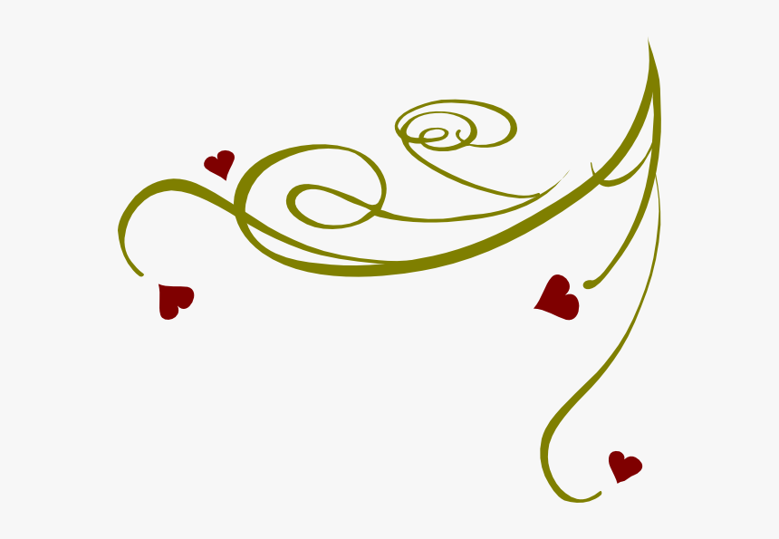 Decorative Swirl Hearts Clip Art At Clker - Transparent Transparent Background Swirls, HD Png Download, Free Download
