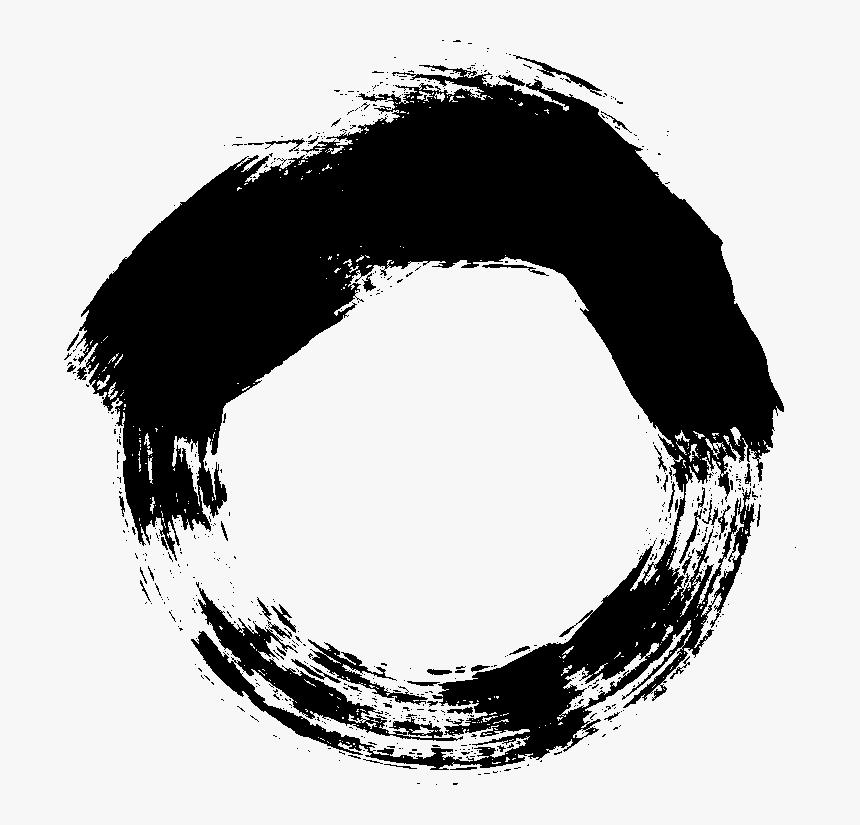 Brush Vector Circle - Circular Brush Stroke Png, Transparent Png, Free Download