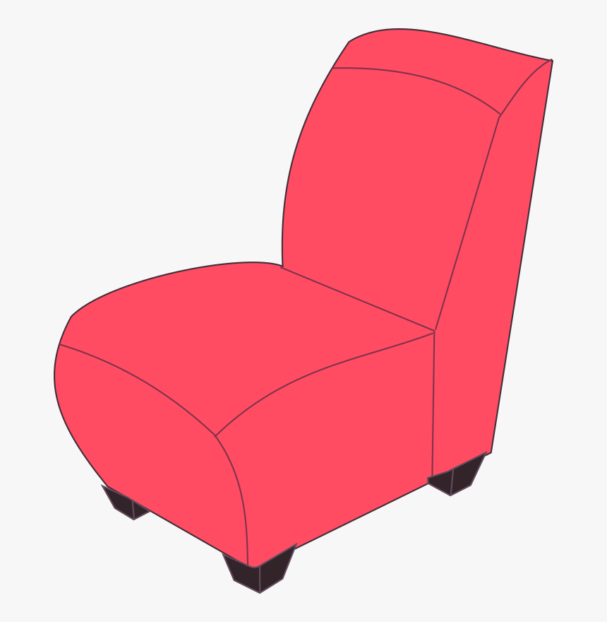 Red Armless Medium Image Sofa Chair Clipart Png