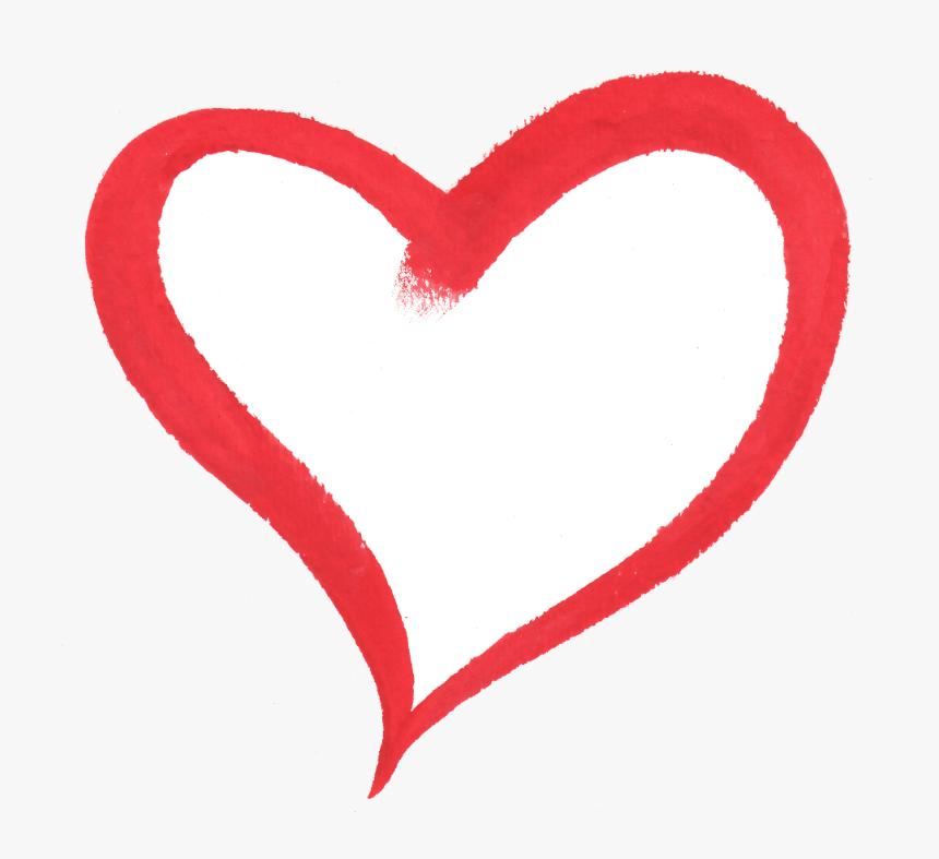 Vector Heart Brush Stroke - Love Heart Brush Png, Transparent Png, Free Download