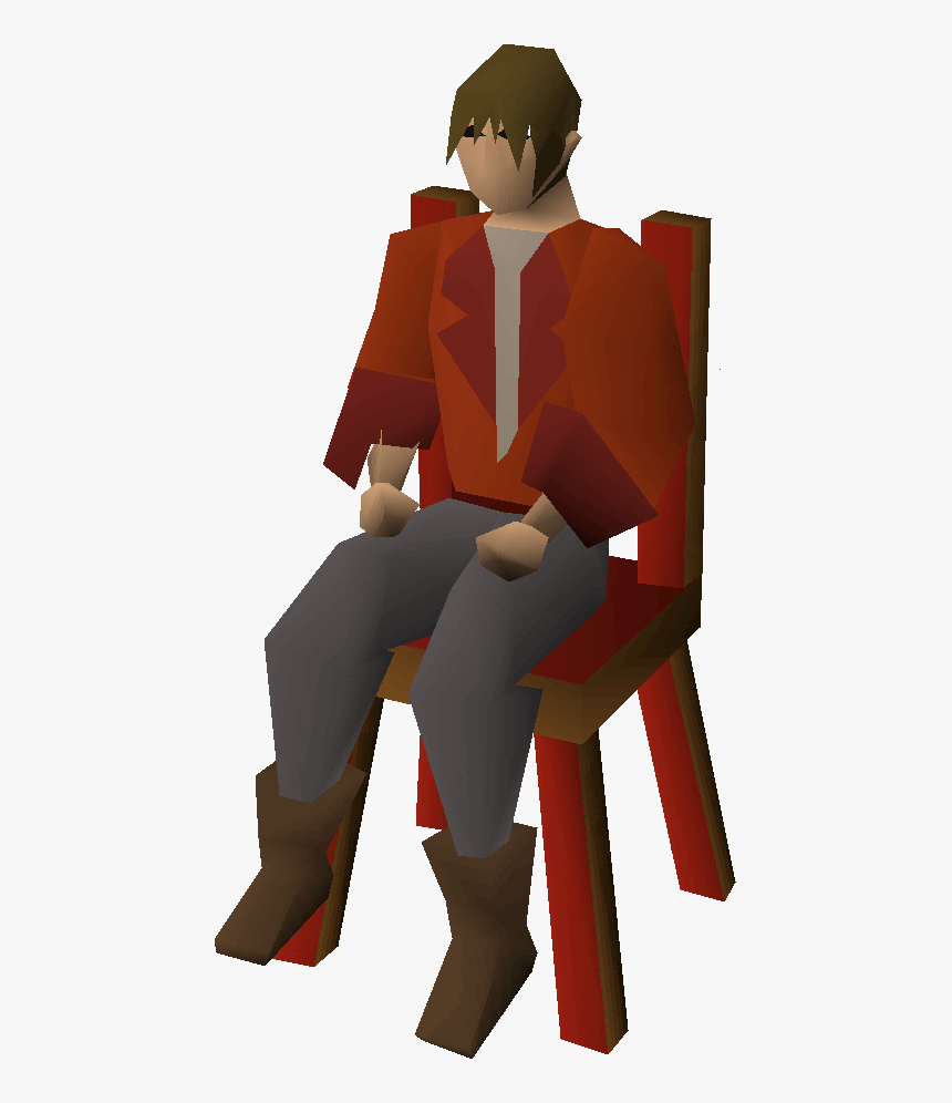 Hans Old School Runescape Seated Transparent Background, HD Png Download, Free Download