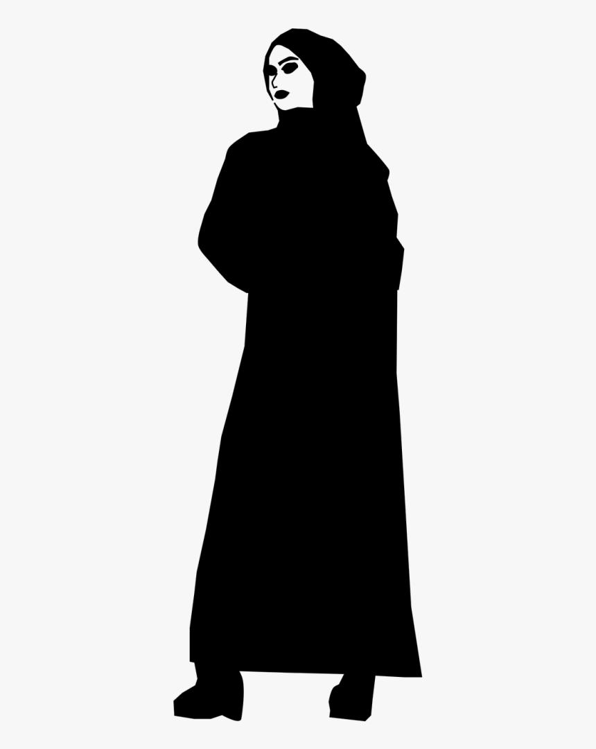siluet wanita muslimah png abaya women silhouette png transparent png kindpng abaya women silhouette png transparent