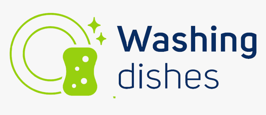 Dish Clipart Washed Dish - Wash Dishes Logo, HD Png Download, Free Download