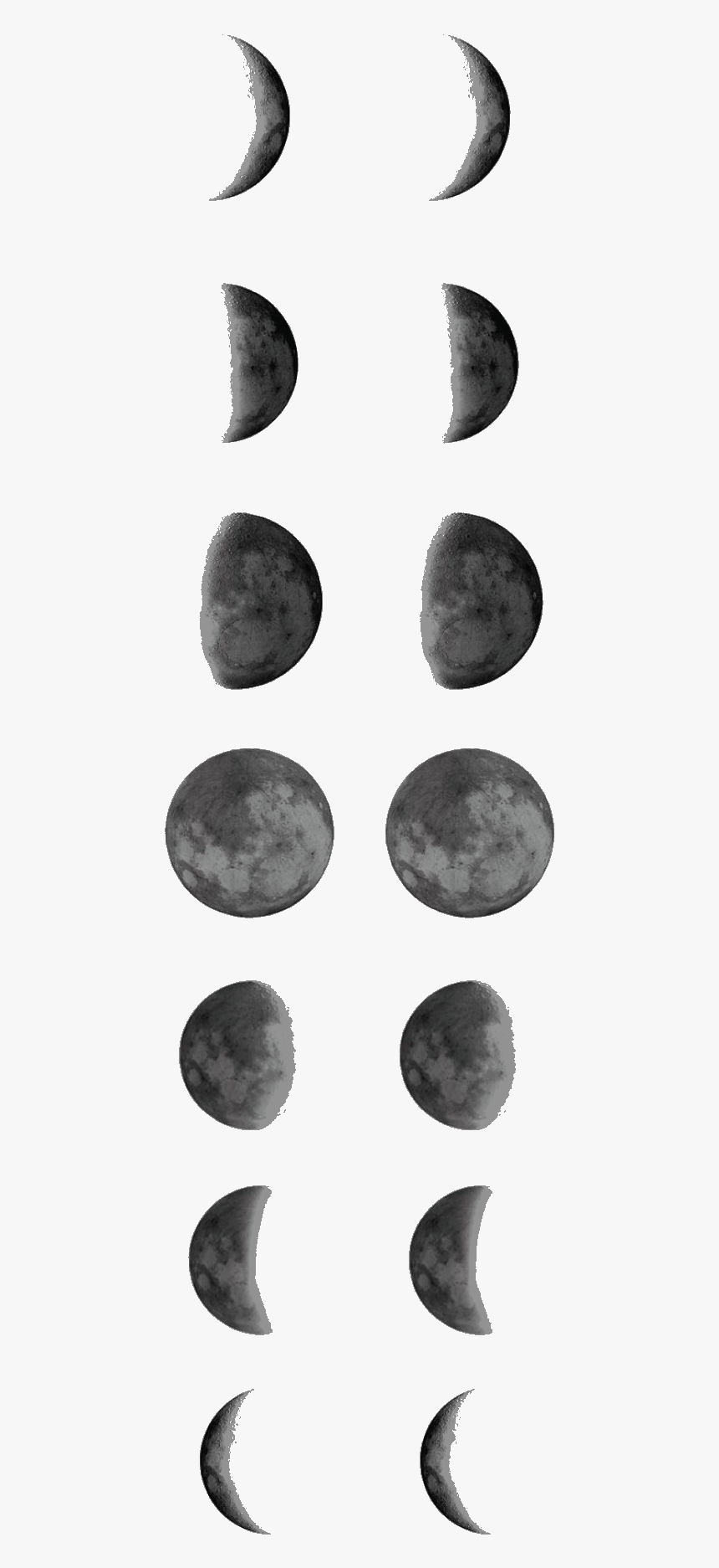 Temporary Tattoo Moon Phases Moon Phase Tattoo Template - Moon Phase Tattoo Outline, HD Png Download, Free Download