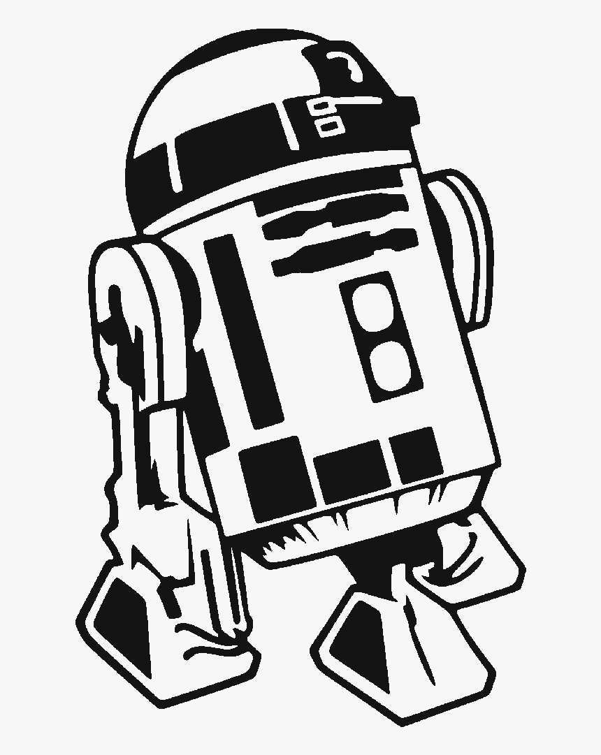 Clear Cut Crystal Designs - R2 D2 Clip Art Black And White, HD Png Download, Free Download