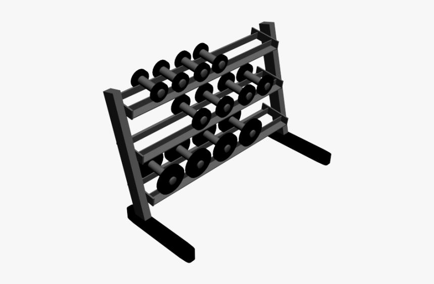 Dumbbell Rack 3d Models - Dumbbells Revit, HD Png Download, Free Download