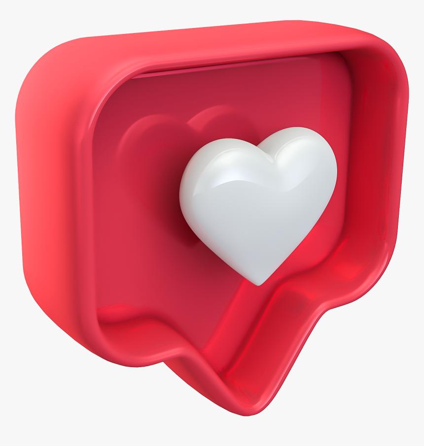 Like Instagram 3d Png, Transparent Png, Free Download