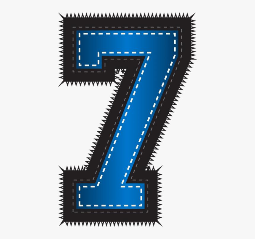 Free Png Blue Sport Style Number Seven Png Images Transparent - Blue Seven Number 7, Png Download, Free Download
