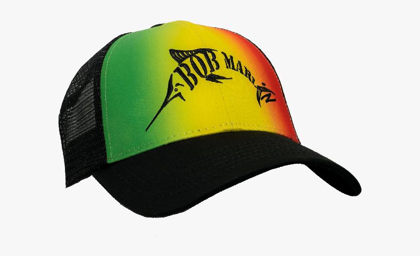 Bob Marlin Rasta Baseball Cap Bm Logo - Baseball Cap, HD Png Download, Free Download